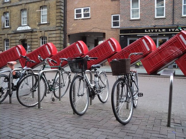 Bike parking in Kingston