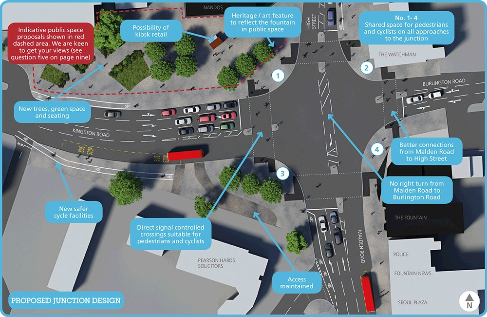 Fountain Roundabout proposed layout