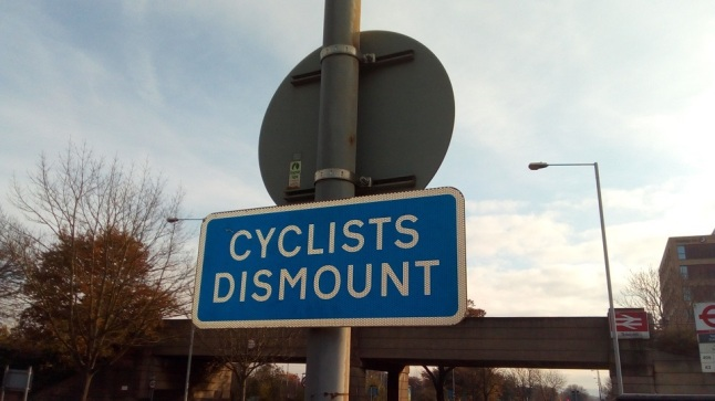 Cyclists Dismount