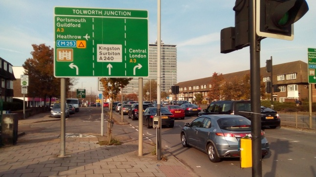 Tolworth roundabout sign