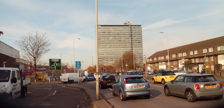 Tolworth Tower Traffic